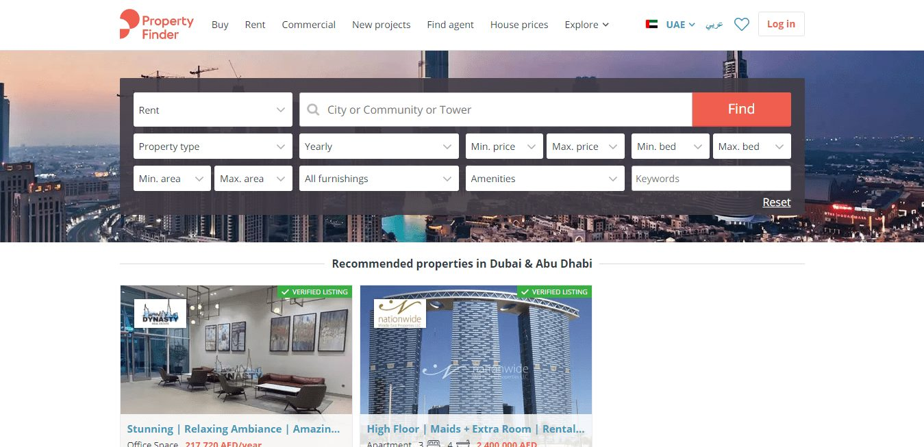 Top 10 Real Estate Websites in UAE